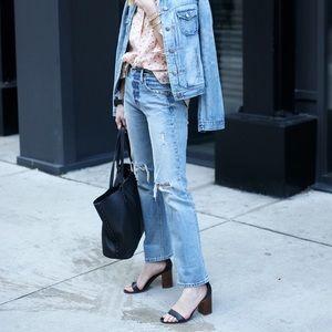 Gap Cone Denim Distressed Rigid Jeans High Rise